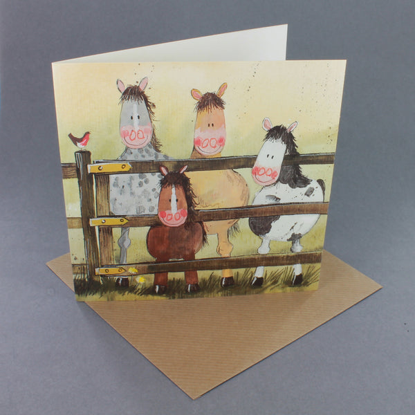 'Pony Gang' Horse Greeting Card