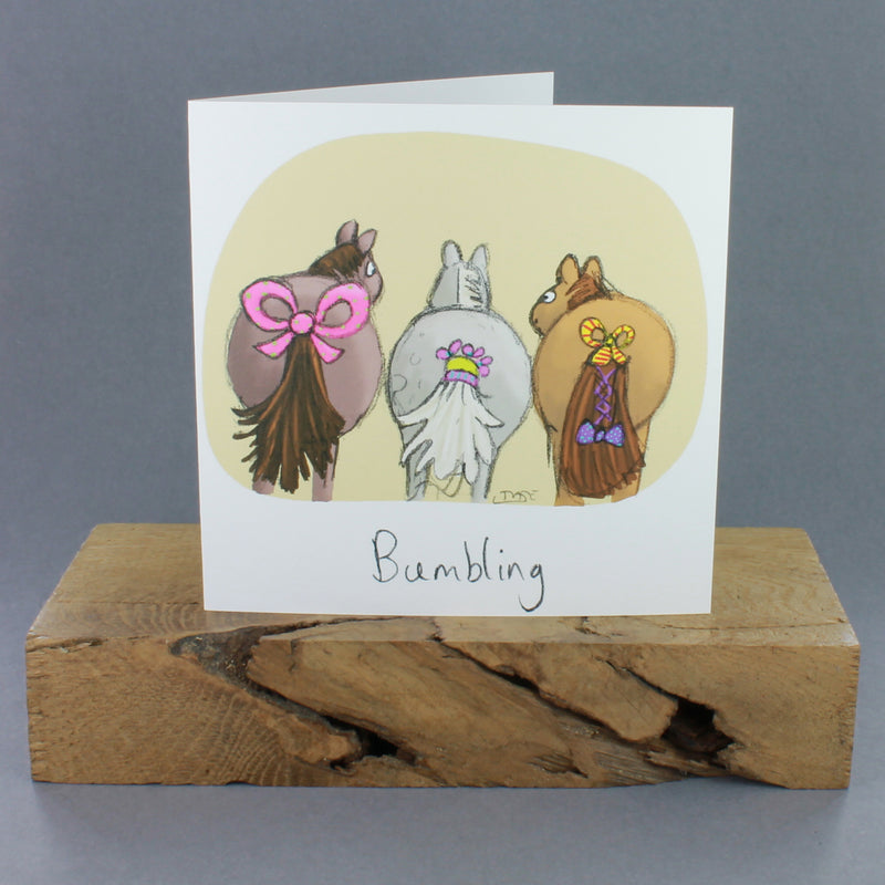Bumbling Greetings Card
