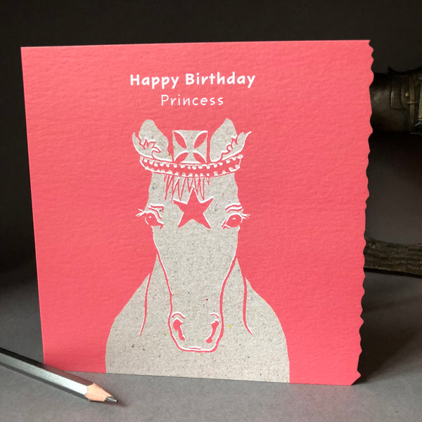 'Happy Birthday Princess' Greetings Card