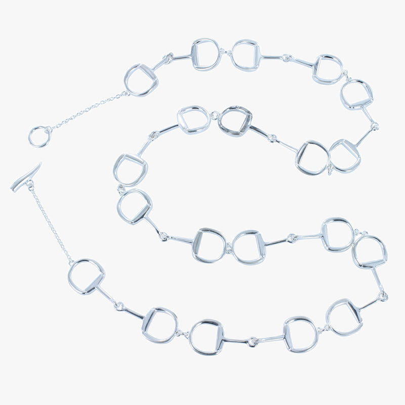Sterling silver Continuous Snaffle Necklace