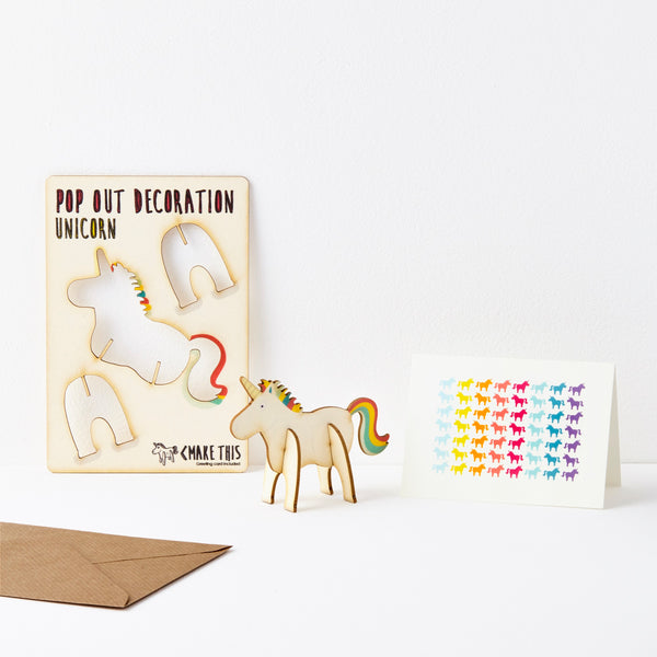 Unicorn Pop Out Greeting Card