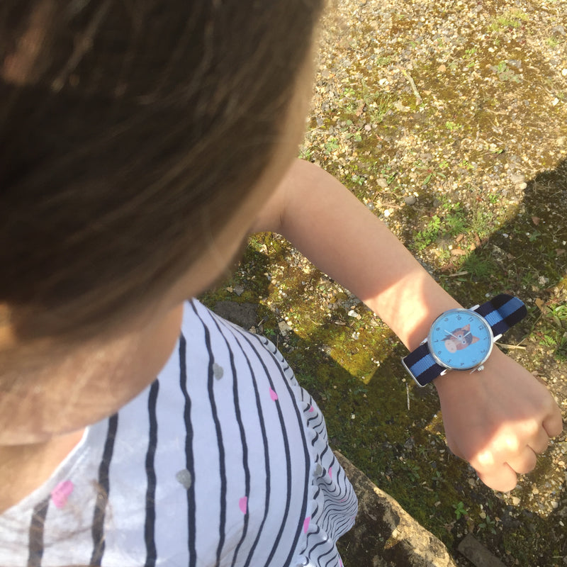 Aqua Blue Pony Face Watch