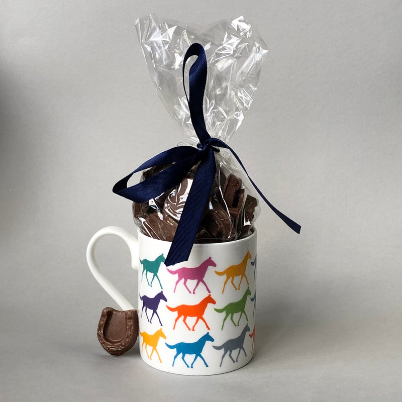 Multi Horses Mug & Chocolates Gift