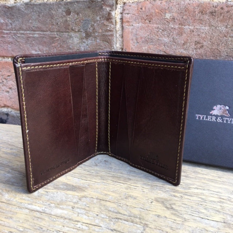 Tyler & Tyler Brown Leather Wallet ShowJumper