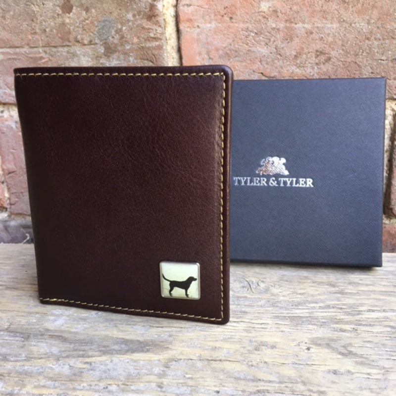 Tyler & Tyler Brown Leather Wallet Labrador