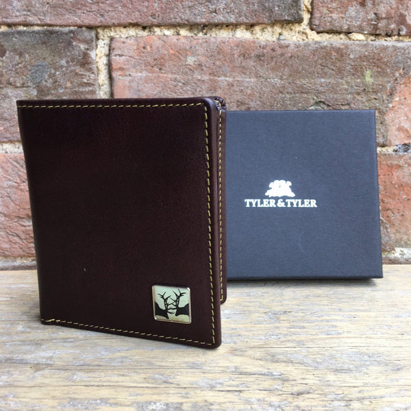Tyler & Tyler Brown Leather Wallet - Rut
