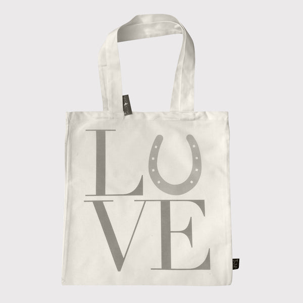 "Canvas Shopping Bag with ""LOVE"" printed on"