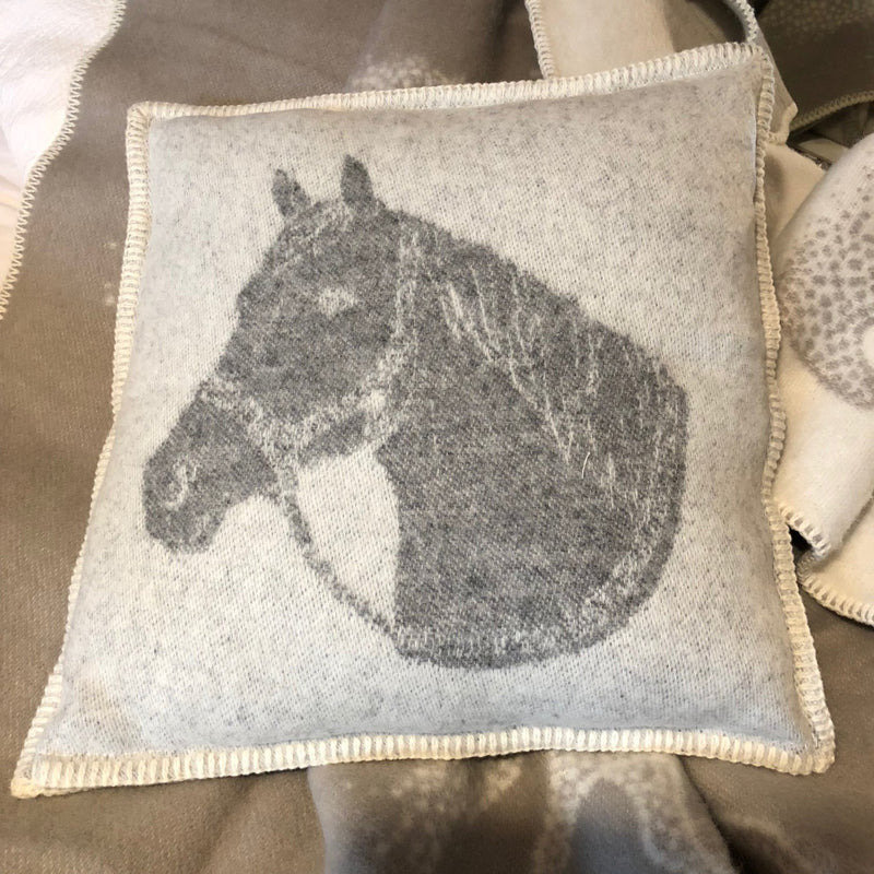 Pure New Wool Horse Head Cushion