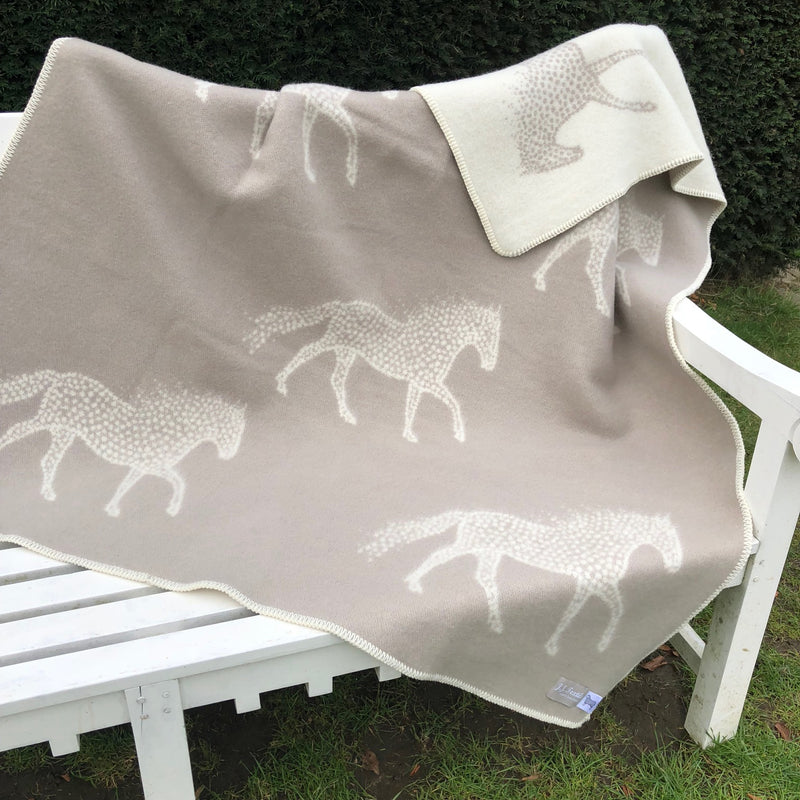 Pure New Wool Blanket Dotty Horse