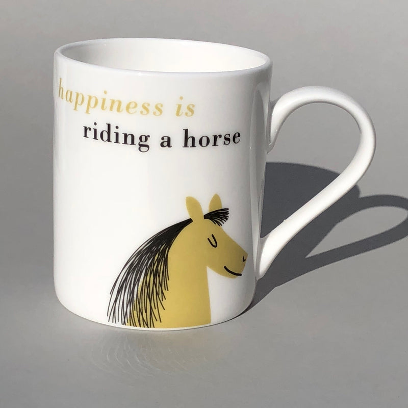 Happiness Bone China Mug Olive