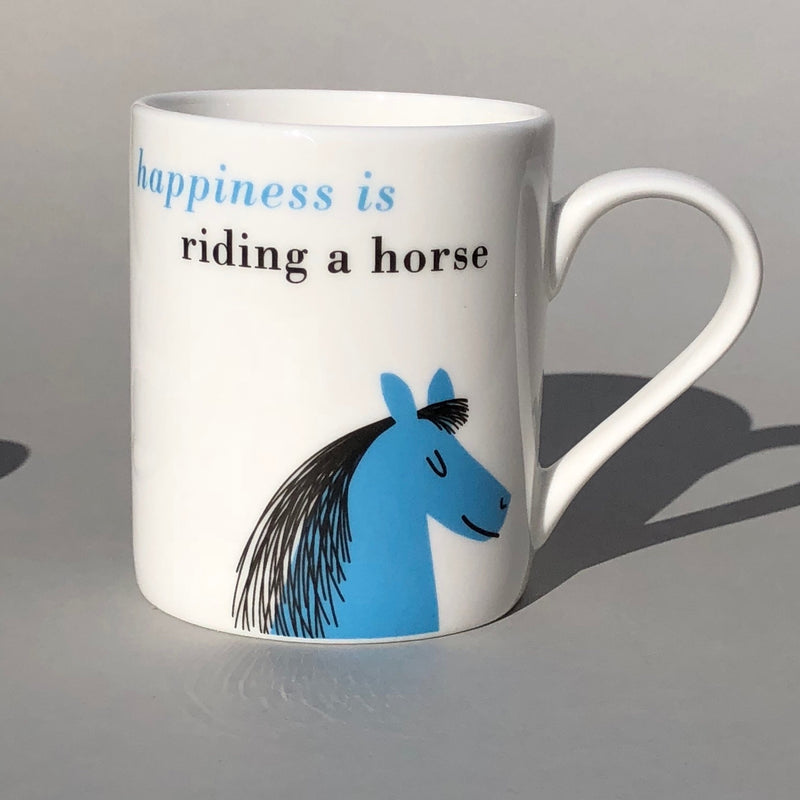 Happiness Bone China Small Mug Sky Blue