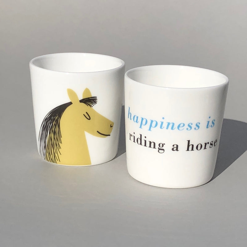 Happiness Bone China Egg Cup Olive