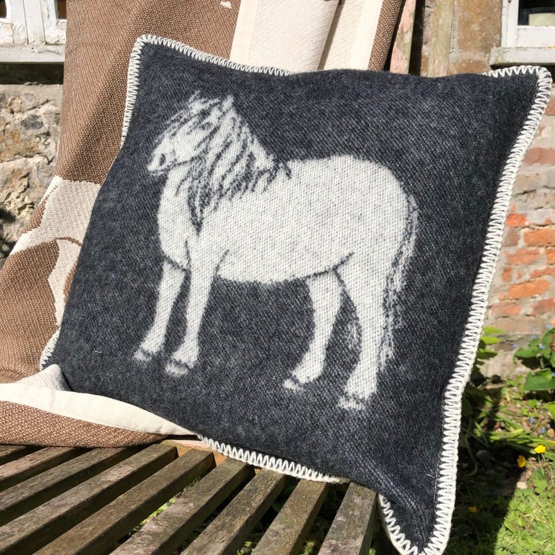 Pure New Wool Moorland Pony Cushion