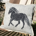 Pure New Wool Cushions with a moorland pony image
