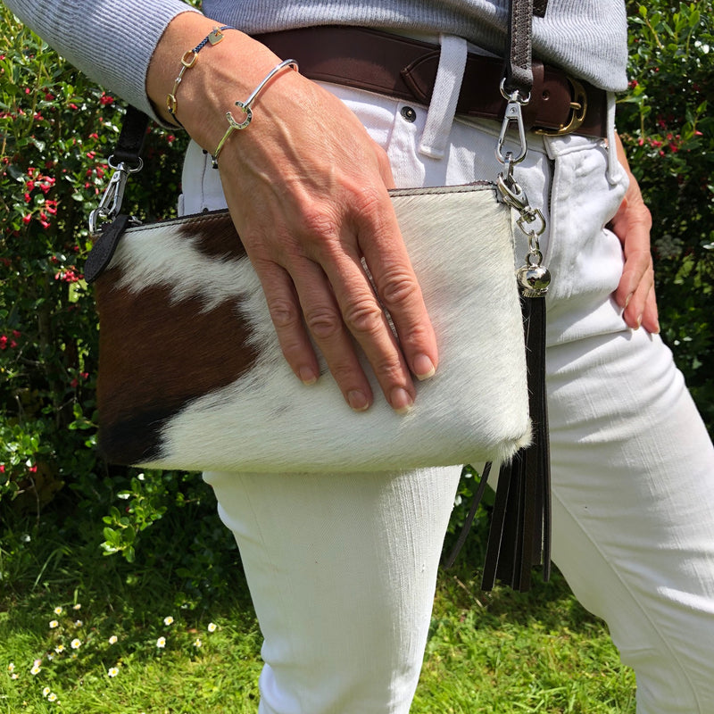 Cow Hide Clutch Bag