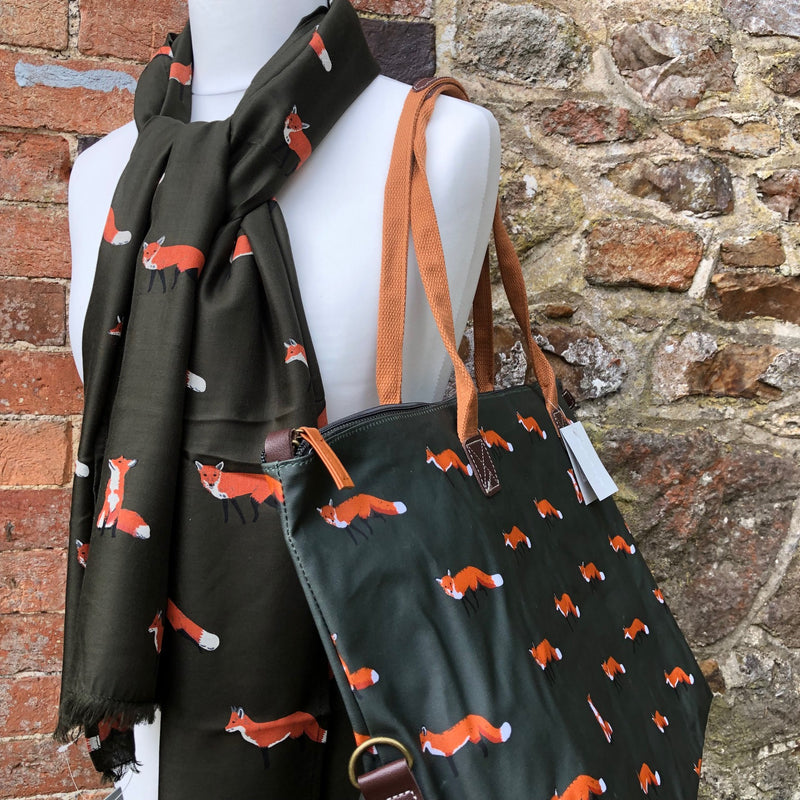 Fox Printed Scarf by Sophie Allport