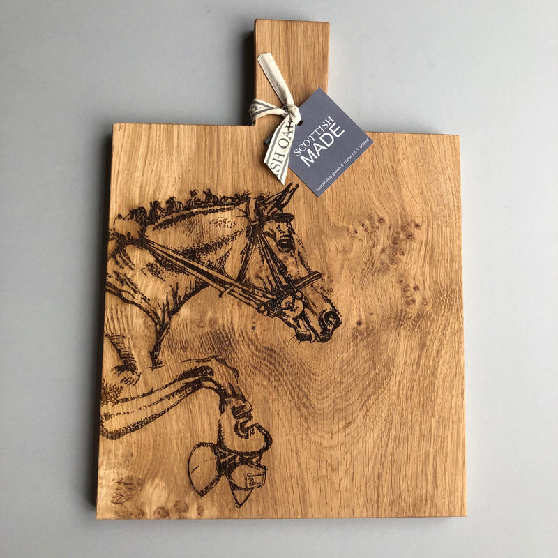 """Horse"" Oak Serving or Chopping Board Medium"