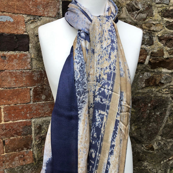 Horses by the gate print scarf