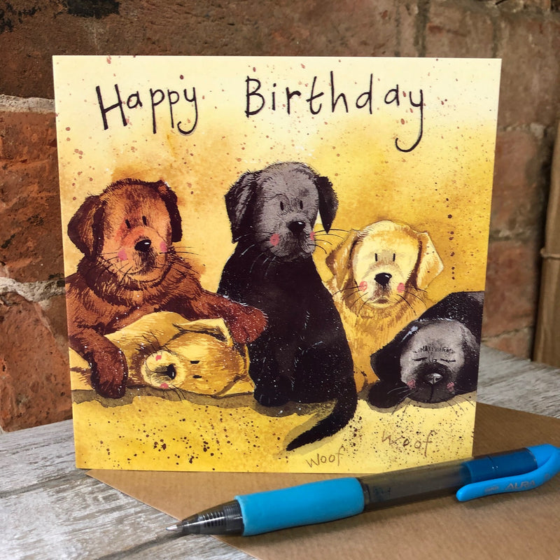 Litter of Labs Greeting Card