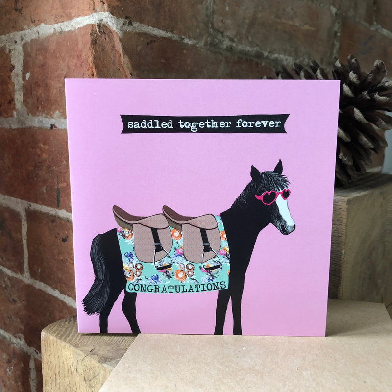 Saddled Together Forever Greeting Card
