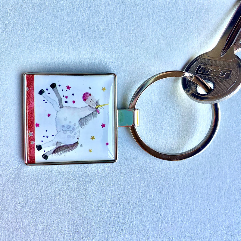Unicorn Key Ring by Alex Clark