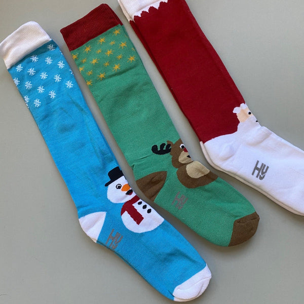 Christmas Riding Socks - pack 3