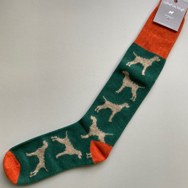 Long Lambswool Dog Socks - Men