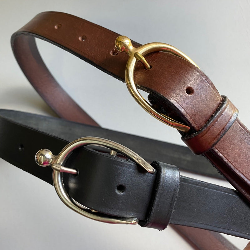 Leather Belt with Spur Style Buckle