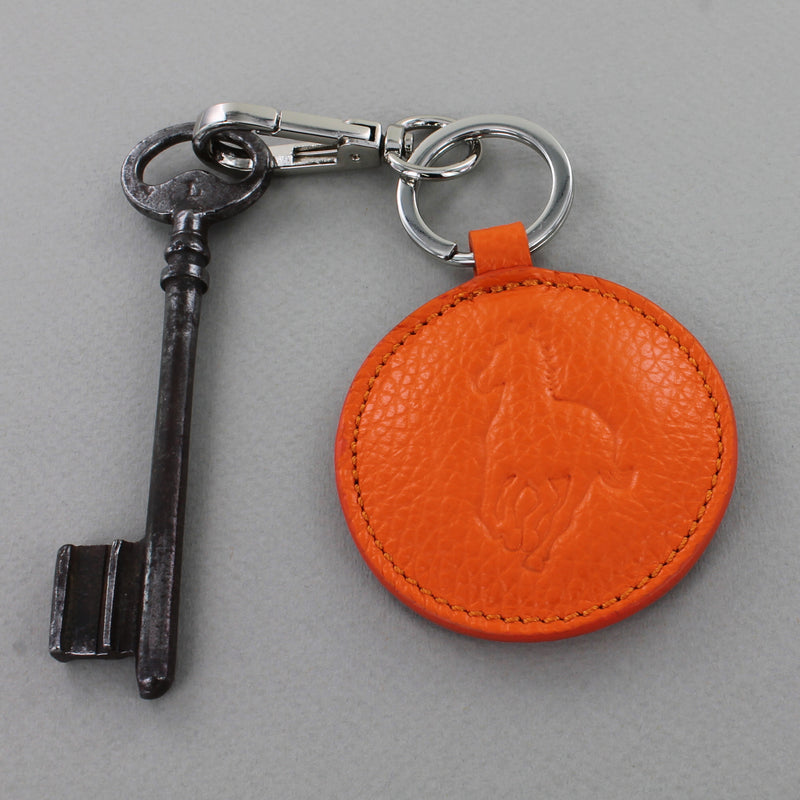 Leather Galloping Horse Keyring
