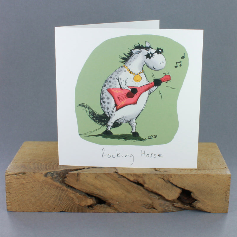 Rocking Horse Greetings Card