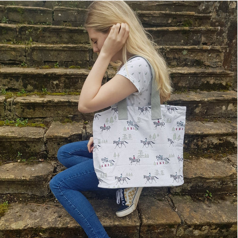 Horses Fabric Tote Bag