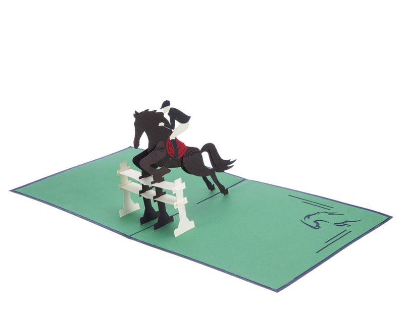 Showjumping Pop up Card