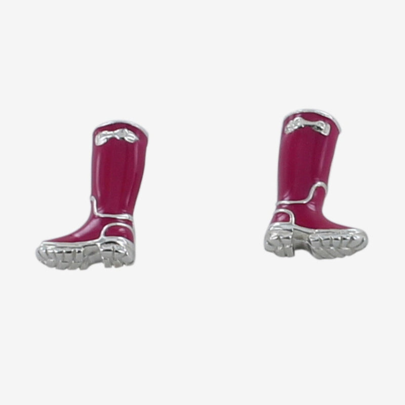 Sterling Silver and Enamel Welly Studs