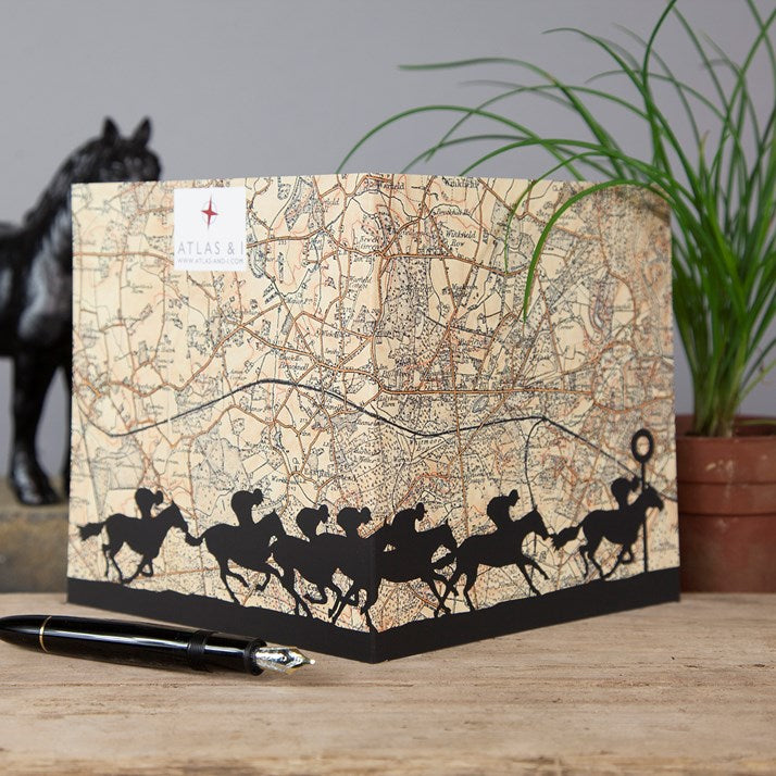 Ascot Horse Racing Map Card