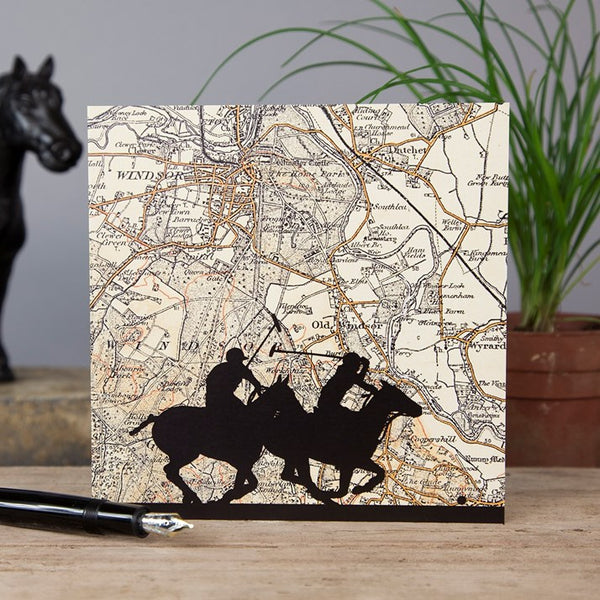Polo at Windsor Vintage Map Card