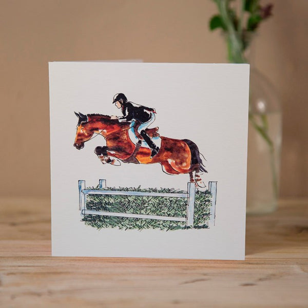 'Grand Prix Showjumper' Horse Greeting Card