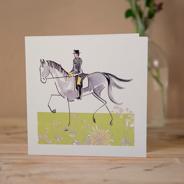 Collected Trot Dressage Greeting Card