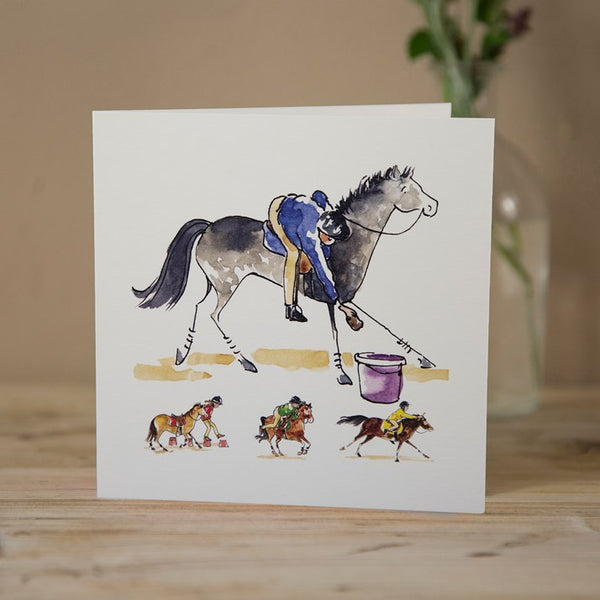 'Pony Club Games' Horse Greeting Card