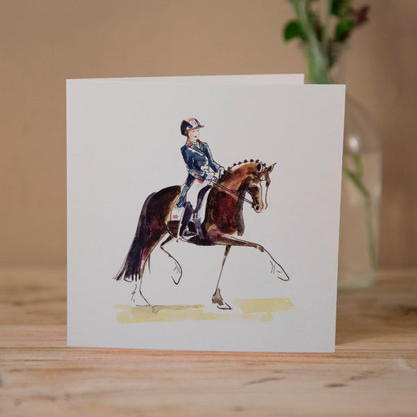 Charlotte & Valegro Dressage Greeting Card