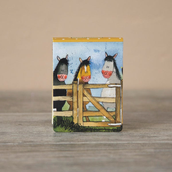 Horses 'By The Gate' Sticky Notes Horse Gift