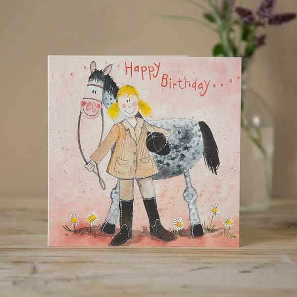 Horse & Rider Birthday Card