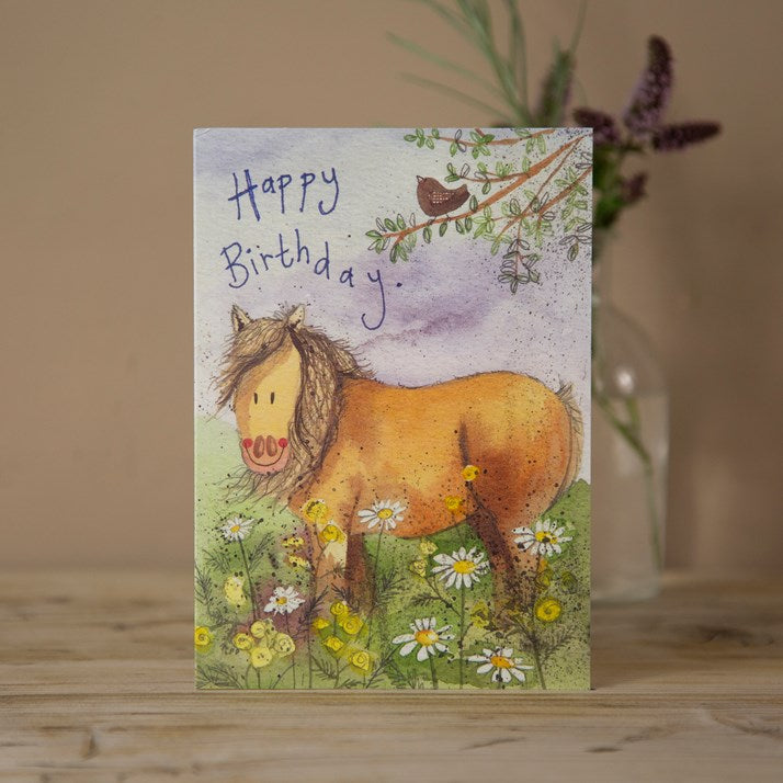 'Meadow Pony' Horse Birthday Card