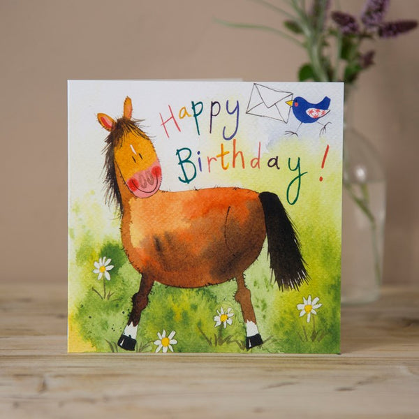'Pony Post' Horse Birthday Card