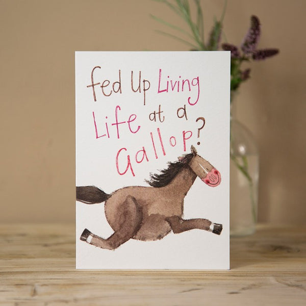 'Life at a Gallop' Horse Greeting Card