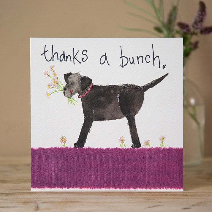 'Thanks a Bunch' Sparkle Dog Card