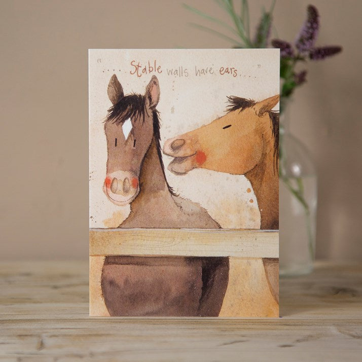'Stable Walls' Horse Greeting Card