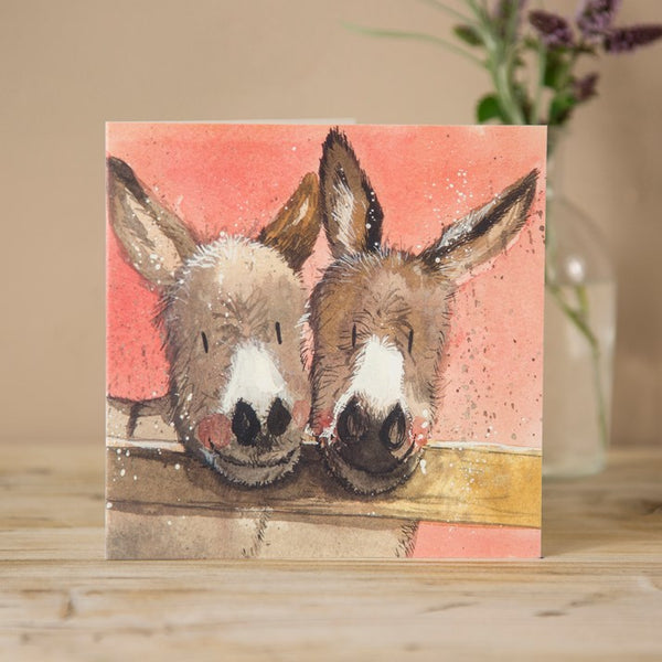 'Joe & Hilda' Donkey Equine Greeting Card