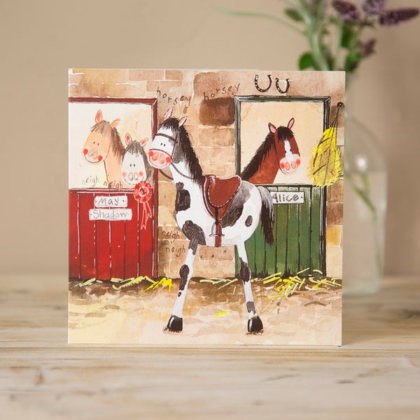 Horse Yard Greeting Card