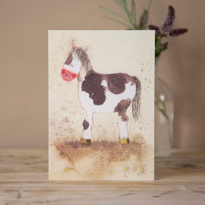 'Patchwork Pony' Horse Greeting Card