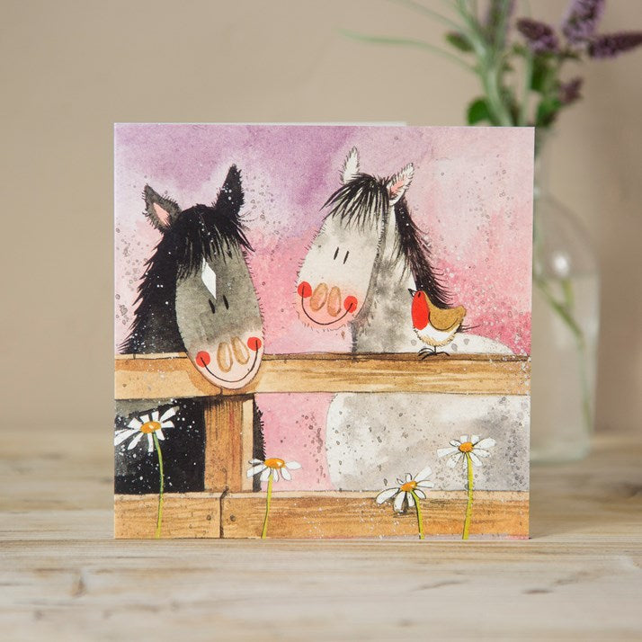 Alex Clark Horse Whispers Greeting Card